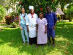 Unsere gute Seelen, Anne, die Verwalterin, Anthony, der Koch, Eunice, das Hausmädchen, Musa,Gärtner