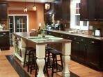 Expansive kitchen is very spacious for relaxing and entertaining.