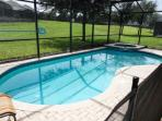 Private pool and spa, spacious back yard