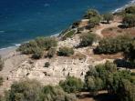 old habour of comos beach, archeologikal side of comos