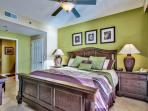 Splash 1202 E Master Bedroom with King Bed, Gulf View,  and HD LCD TV
