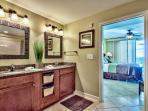 Splash 1202 E Master Bath with granite countertops