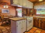 Kitchen (in cabin) is fully stocked to cook important, holiday meals.
