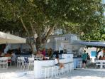 Seaside bar in Longos, 250 m from Harmony