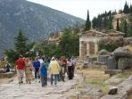 The ancient site of Delphi