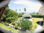 View of the pool and the Indian Ocean, Villa Buffalo right