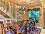 Large Dining Room table - seating for 10 plus the breakfast bar!  Open Floor Plan - excellent space!