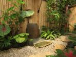Open Air Bathroom in tropical garden