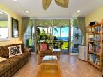 The #114 living room faces the Pacific Ocean