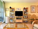 Living room air conditioner, 40 inch TV, books & games