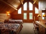 Loft bedroom with ensuite bath
