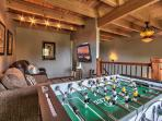 Upstairs loft with Foosball, TV cable, DVD player and Wii game system
