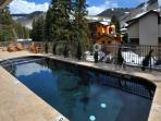 Pool and hot tub - looking south toward the mountain areas.