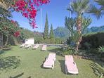 Beautiful Tropical garden with Mounten view