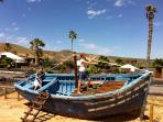 Pirate play boat at Finca De Arrieta.