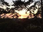 Sunset as seen from Tre Mynach terrace