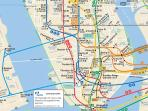 PATH subway  - gets you in 7min to WTC and in 15min to Empire State Building
