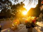 Banquet at sun set