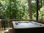 Relax in your very own private hot tub just steps from you back door.