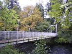 Suspension bridge leading to the Islands.
