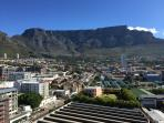 Panoramic view of Cape Town and Table Mountain.