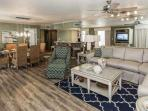 Enjoy dinner with the family in the beautiful unit. Seating for 6 at table and 4 at the bar.