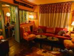 Living Room area at night. Photo by Guest