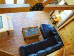 Open living room area - Brassua Lake Log Cabin