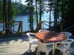 Front deck with lake views - Cabin in Lambs Cove