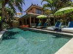 Walk distance to shops, restaurants, spa &beach! 5 bedrooms with ensuite bathrooms 15m private pooll