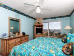 What a treat this Gulf front master bedroom