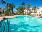 Large Heated Pool just 100 feet from font door