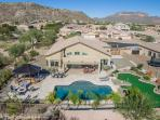 Very large Oasis Yard with lots of choices for Fun & Recreation