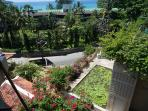 Looking down to the road and Katathani resort and bay from the balcony