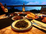 A home cooked meal [Jamaica style] served on the upper veranda by our 'on-call' chef [optional]