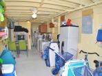 The common area room has 2 washers and dryers + storage for bikes & beach gear