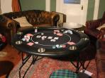 Why not hire our poker table for a quiet night in with a difference.