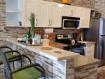 Newly renovated fabulous modern kitchen.  Every small appliance!  Feel at home!