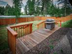 Outdoor area for BBQ, firepits to roast marsmallows and relax and picnic tables