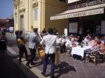 Street entertainers abound in Place Massena and Old Nice during the Summer Season.