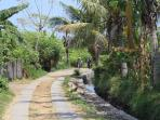 small road to the Kundalini Beach Houses