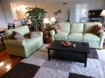 Comfortable couch and wide love seat - 48 in TV with cable and HBO.