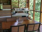 Casa Alta - Dining Table on Screened-in Verandah