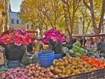 daily market typical of Provence (2 min)