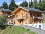 Front view  - Chalet Lena in summer.