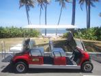 This golf cart goes with the villa so you can get around Palmas Del Mar.