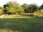 En automne nous redonnons l'aspect d'une prairie avec un grand espace pour s'y divertir