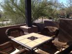 Enjoy the surroundings from your private patio; faces S/SW ideal for sunning too