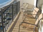 Balcony accessible from living room and master bedroom