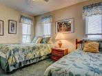 Bedroom #2 has a queen + a twin bed